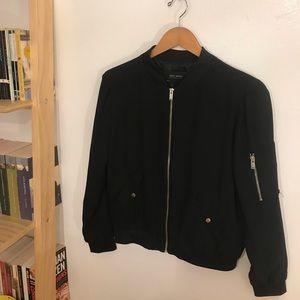 Zara Black Light Bomber Jacket